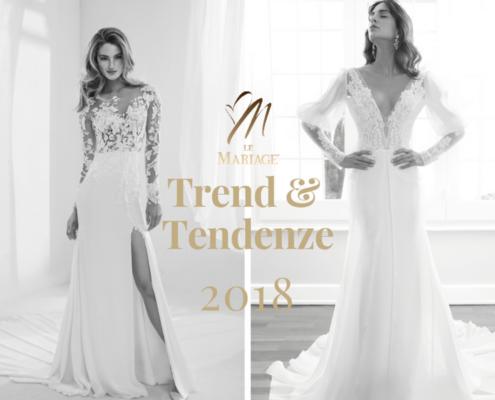 trend e tendenze sposa 2018